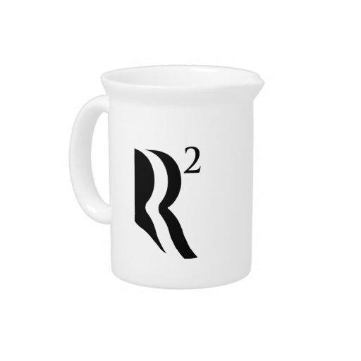 R SQUARED - ROMNEY RYAN 12 BEVERAGE PITCHER