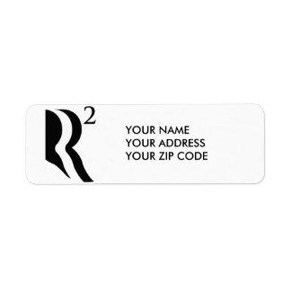 R SQUARED - ROMNEY RYAN 12 RETURN ADDRESS LABEL