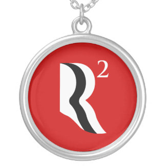 R SQUARED - ROMNEY RYAN 12 -.png Round Pendant Necklace