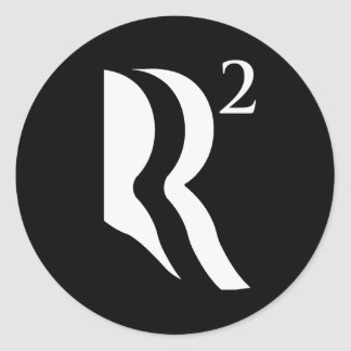 R SQUARED - ROMNEY RYAN 12 -.png Classic Round Sticker