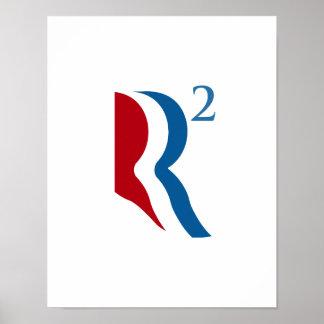 R SQUARED - ROMNEY RYAN 2012 png Print