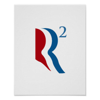 R SQUARED - ROMNEY RYAN 2012.png Print