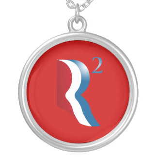 R SQUARED - ROMNEY RYAN.png Round Pendant Necklace
