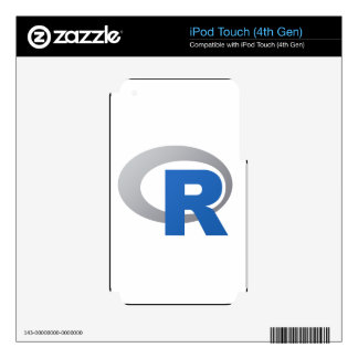 R Statistical Software Products iPod Touch 4G Decal