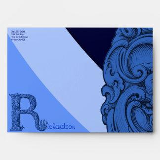 R - The Falck Alphabet (Blue) Envelope