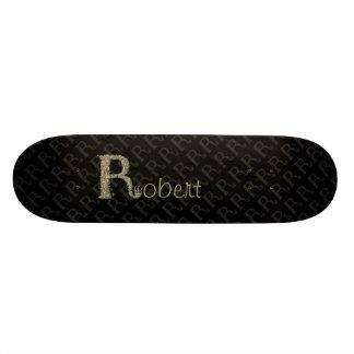 R - The Falck Alphabet (Golden) Skate Board Deck