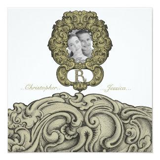 R - The Falck Alphabet (Golden) (Wedding) Card
