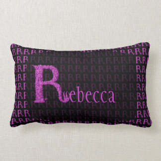 R - The Falck Alphabet (Pink) Lumbar Pillow