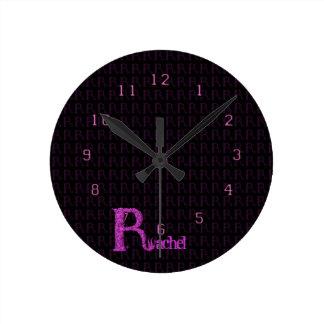 R - The Falck Alphabet (Pink) Round Clock