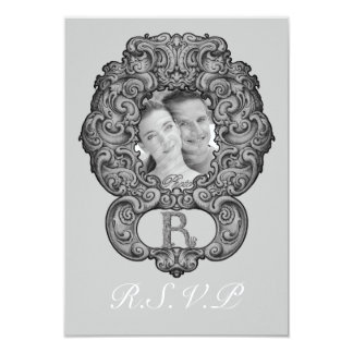 R - The Falck Alphabet (Silvery) (Wedding) Card