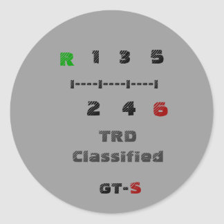 R, TRD clasificado, 1   3   5, I----I----I----I,… Pegatina Redonda