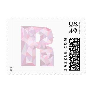 R - Triángulos polivinílicos bajos - gris púrpura Estampilla