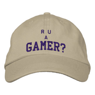 """R U A Gamer?"" Are You a Gamer? Embroidered Hat"