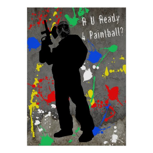 ¿R U alistan 4 Paintball? Posters