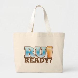¿R U listo? vidrio de cerveza Bolsa Tela Grande