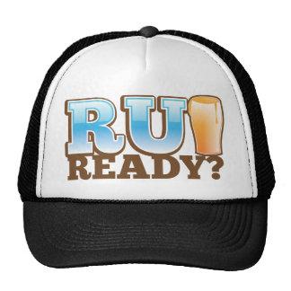 ¿R U listo? vidrio de cerveza Gorra