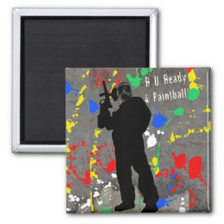 R U Ready 4 Paintball? 2 Inch Square Magnet
