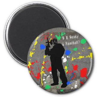 R U Ready 4 Paintball? Magnet