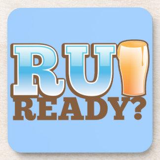 R U Ready? beer glass Coasters