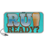 R U Ready? beer glass iPod Speaker