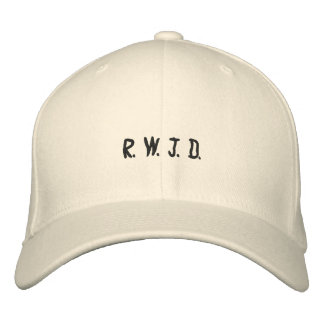 R. W. J. D. EMBROIDERED BASEBALL HAT