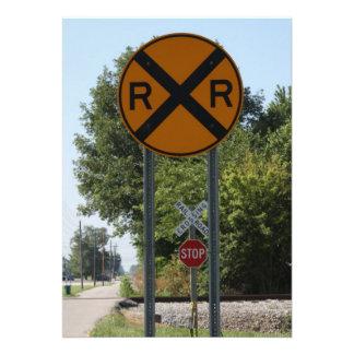 R x R - muestra de la travesía de ferrocarril