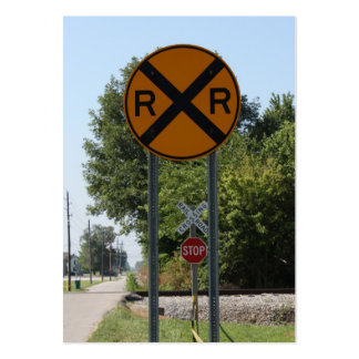 R X R - Railroad Crossing Sign Large Business Cards (Pack Of 100)