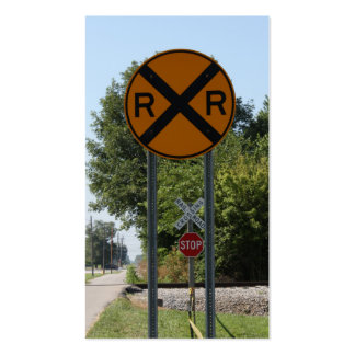R X R - Railroad Crossing Sign Double-Sided Standard Business Cards (Pack Of 100)
