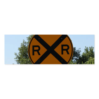 R X R - Railroad Crossing Sign Double-Sided Mini Business Cards (Pack Of 20)