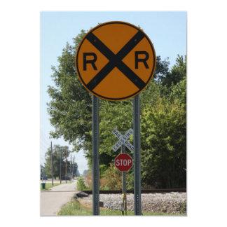 R X R - Railroad Crossing Sign Card
