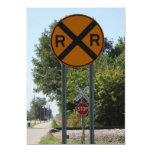 R X R - Railroad Crossing Sign 5x7 Paper Invitation Card