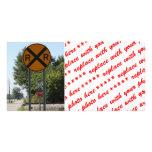 R X R - Railroad Crossing Sign Photo Card