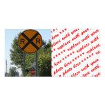 R X R - Railroad Crossing Sign Photo Card Template