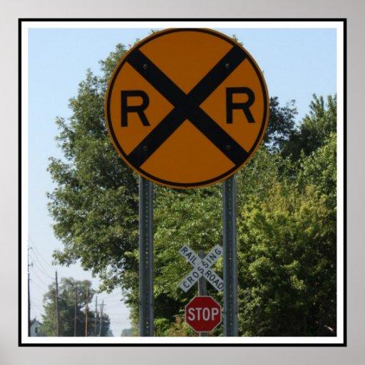 R X R - Railroad Crossing Sign Print