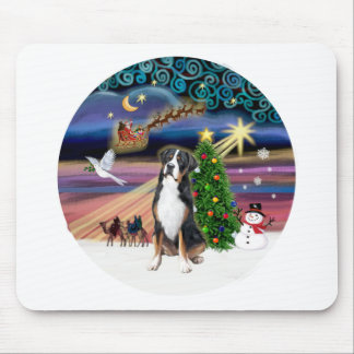 R-Xmas Magic-Greater Swiss Mt. Dog Mouse Pad