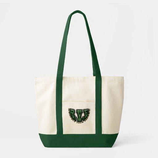 R.Y.E IMPULSE TOTE BAG GREEN/WHITE