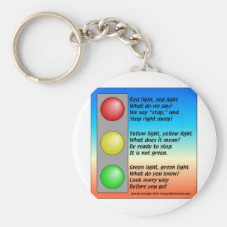 R-Y-G-lights Basic Round Button Keychain