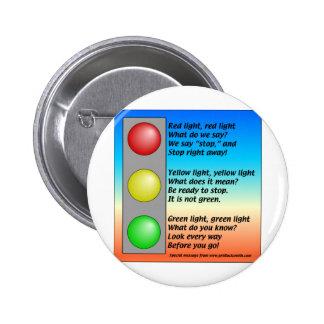 R-Y-G-lights Pinback Button