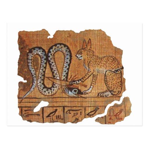 Ra and Apophis blk Postcard