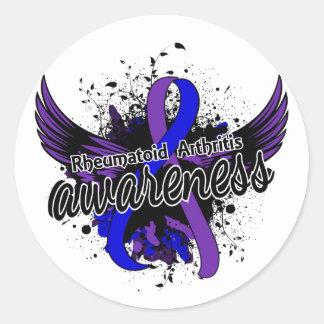 RA Awareness 16 Classic Round Sticker