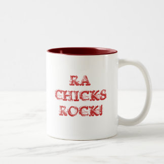 RA CHICKS ROCK! Two-Tone COFFEE MUG