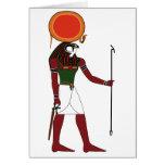 Ra dios egipcio antiguo del Sun y reyes Tarjeton
