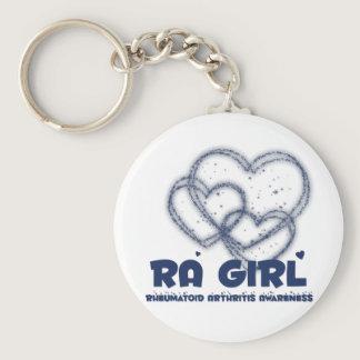 RA Girl Heart Design :: Rheumatoid Arthritis Keychain