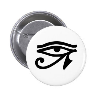 Ra Horus del ojo Pin Redondo De 2 Pulgadas