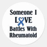 RA reumatoide Pegatina Redonda