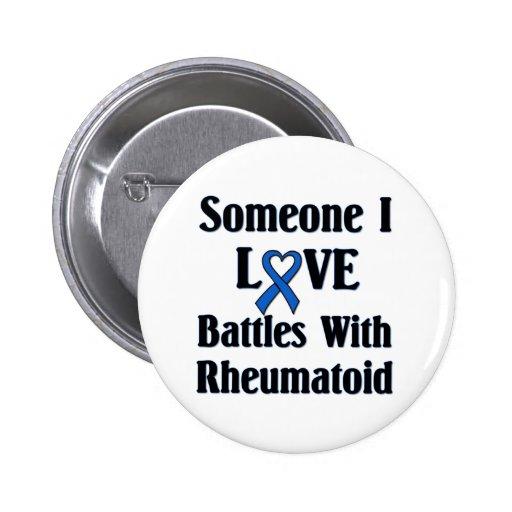 RA reumatoide Pin Redondo De 2 Pulgadas