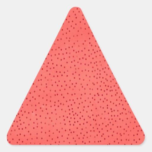 RA ROJO BRILLANTE ALEGRE de la FRESA de la CEREZA Pegatinas De Triangulo