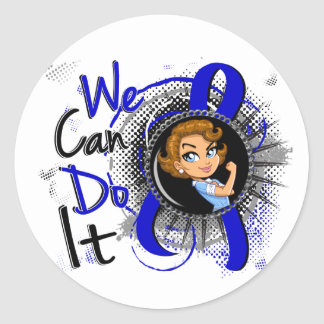 RA Rosie Cartoon WCDI.png Classic Round Sticker