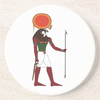 Ra the Ancient Egyptian God of the Sun and Kings Sandstone Coaster
