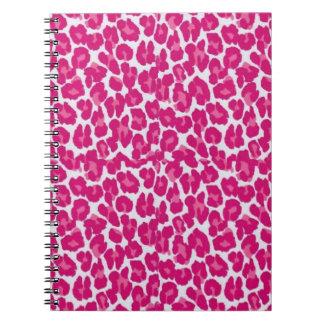 RAB Pink Punk Leopard Print Spiral Notebook